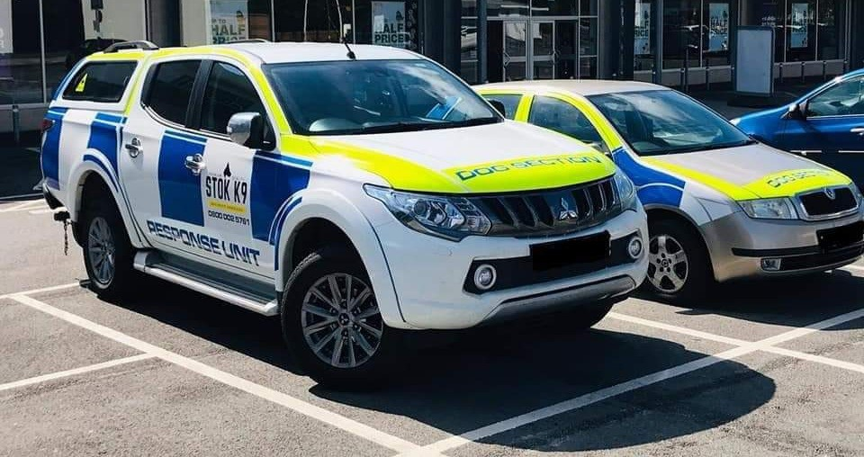 Stock K9 security services response cars